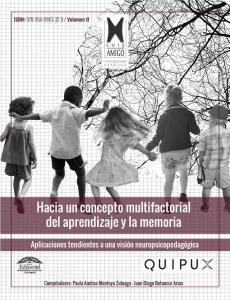 Cubierta para Hacia un concepto multifactorial del aprendizaje y la memoria: Aplicaciones tendientes a una visión neuropsicopedagógica