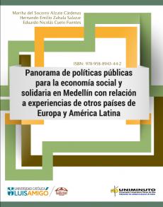 Cubierta para Panorama de políticas públicas para la economía social y solidaria en Medellín con relación a experiencias de otros países de Europa y América Latina