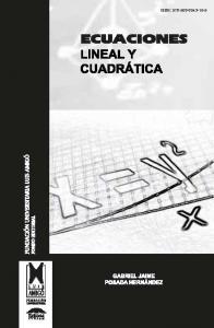 Cubierta para Ecuaciones Lineal y Cuadrática