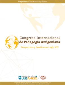 Cubierta para Congreso Internacional de Pedagogía Amigoniana: Perspectivas y desafíos en el siglo XXI