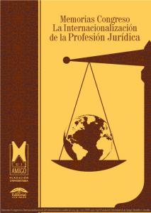 Cubierta para Memorias Congreso La Internacionalización de la Profesión Jurídica
